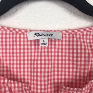 Madewell Tops - Madewell Embroidered Gingham Tank Top
